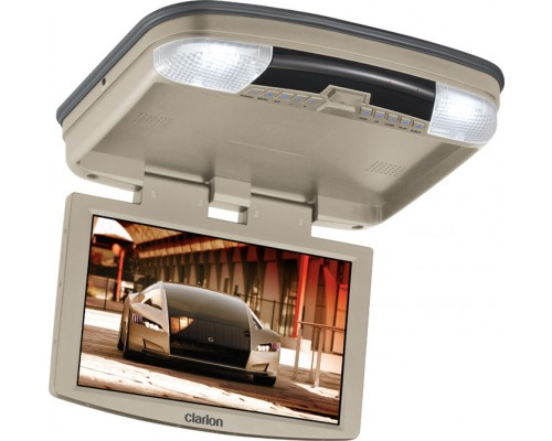 "DISCONTINUED - Clarion VT1000T 10"" LCD Overhead Monitor With DVD Player (Tan Housing)"