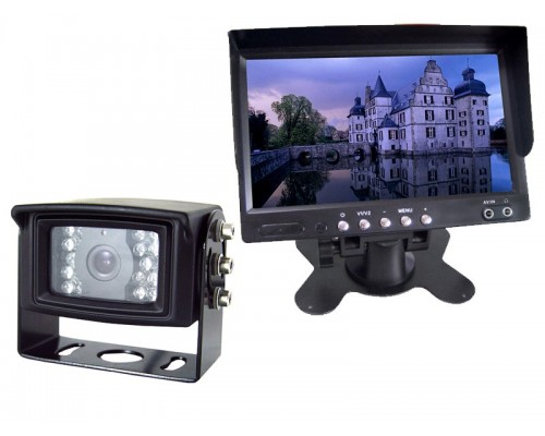 RV Back Up System - Boyo VTM7000 7 inch TFT LCD Monitor with Stand plus Boyo VTB201 Night Vision Camera