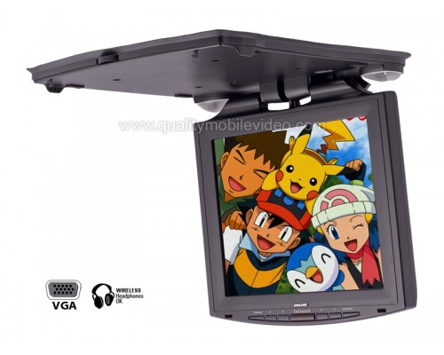 Xenarc 1210YR Overhead Flip Down Monitor with 12.1 inch LCD Screen, VGA, AV Inputs and Built-in IR for Wireless Headphones