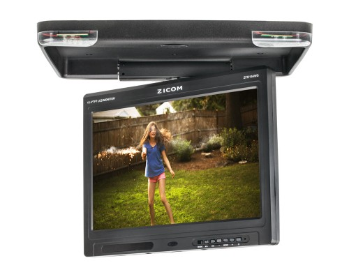 """Quality Mobile Video Clarus TOP-ZFD154WS 15.4""""Overhead Flip down Monitor - Swivel Right"""
