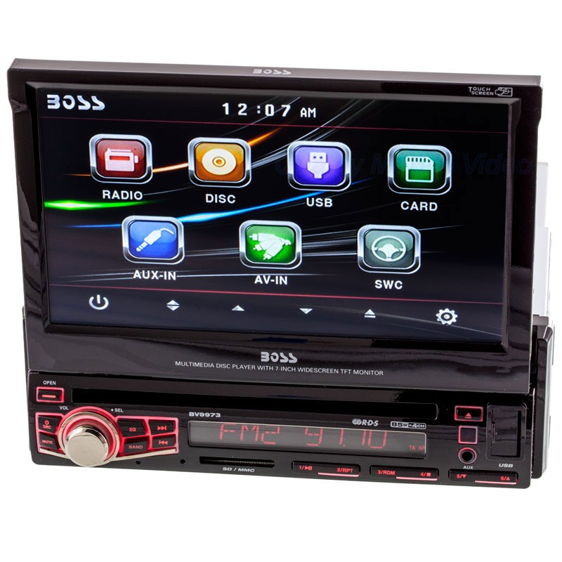 BOSS BV9973 Single DIN 7 inch Receiver for VehiclesQuality Mobile Video