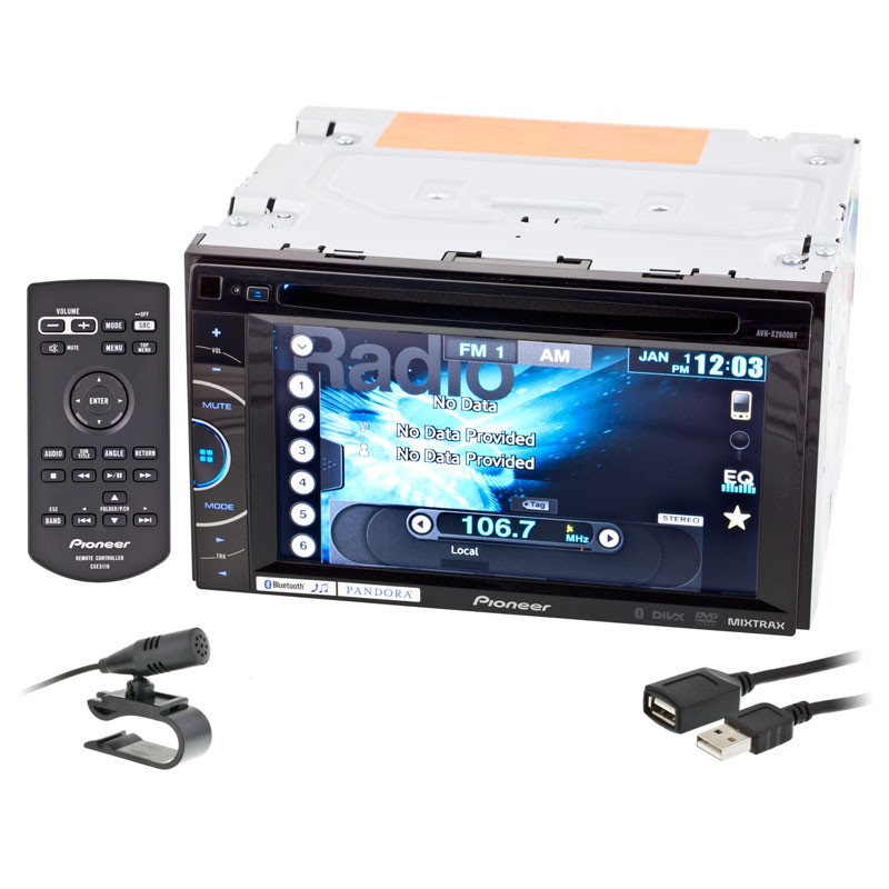 Discontinued Pioneer Avh X2600bt Double Din Multimedia Dvd Receiver With 6 1 Inch Touchscreen Display Appradio Mode Bluetooth Pandora Support