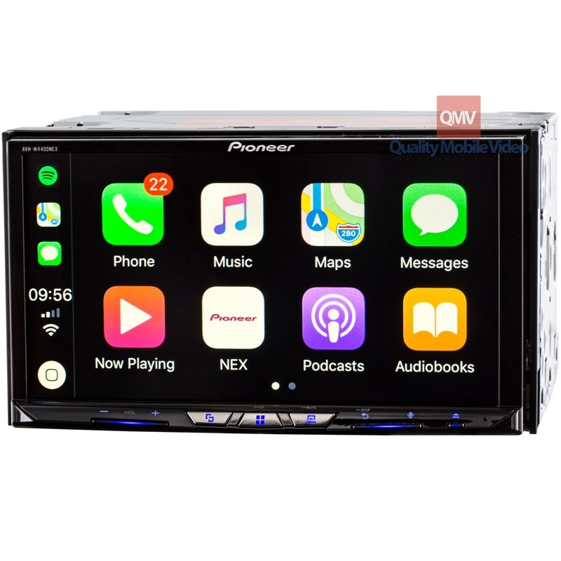 pioneer avh-w4400nex double din 7 inch in dash car stereo receiver with  dvd, dual usb, hd radio, wifi plus wireless apple carplay & android auto  quality mobile video