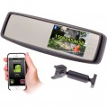 Accelevision RVM430BTG Windshield Glass Mount 4.3 inch Rearview Mirror Monitor with Built in Bluetooth
