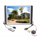 Pyle PLVW15IW 15 inch Raw TFT LCD Monitor In Wall Mount Flat Panel with RCA and VGA Inputs
