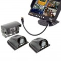 Safesight SC9002Q3 Universal 7 inch Quad Control LCD Monitor and RV Back Up Color CCD Camera System with 1 pc SC0104 and 2 pcs SC0102 Cameras