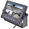 Safesight TOP-SS-D7002Q Water Proof  7 Inch Quad screen LCD monitor with 4 triggered video inputs