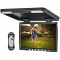 Tview T154DVFDBK 15.4 inch LCD Car Flip Down DVD Monitor - Black