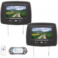 DISCONTINUED - Tview T929DVPL 9.2 Inch Universal TFT LCD Headrest Monitor Pair with Built In DVD Player