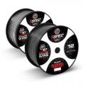 T-Spec V10SW12125-WB 125 Foot Spool of 12 Gauge V10 Series Speaker Wire in Black and White