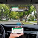 Accelevision RVM430WFDVRG 4.3 inch Rear View Mirror Monitor with built-in DVR, and Wifi Phone Mirroring