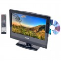 """Axess TVD1801-13 13"""" HD LED TV with AC/DC power adapter and built in DVD"""