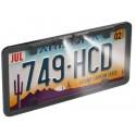 Boyo VTL375HDL Slim Full Framed License Plate High Definition Car Camera With LED Lights - Black