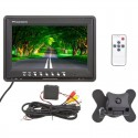 "Safesight TOP-D9001 9"" Universal LCD monitor with trigger wire - 2 Video inputs"