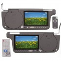 """Gryphon MV-7SVDVD Gryphon 7"""" Wide screen Replacement Sun Visor Monitors with one DVD player"""