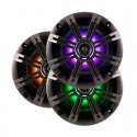 Kicker 41KM84LCW KM Series 8 inch 2-Way Coaxial Marine Speakers with built-in LED Lighting
