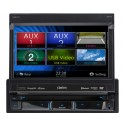 """DISCONTINUED - Clarion NZ503 Single-DIN In-Dash 7"""" Motorized LCD Monitor with Multimedia DVD Player Built-in Navigation Parrot Bluetooth Module and Touch Panel"""