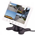 DISCONTINUED - Pyle PLHRQD7W 7'' Quad TFT LCD Video Monitor with Headrest Shroud - White