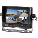 """SafeSight TOP-5001Q 5"""" LCD Quad Monitor with Mounting Stand - 4 Video inputs"""
