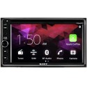 """DISCONTINUED - Sony XAV-AX200SXM 6.4"""" Double DIN DVD Receiver with Apple Carplay, Android Auto and free SiriusXM satellite radio tuner"""