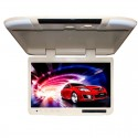 Tview T257IR-TN 25 Inch Roof Mount Flip Down Monitor with IR Infrared Transmitter - Tan