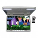 Tview T156IRGR 15.4 Inch Roof Mount Flip Down LCD Monitor - Grey