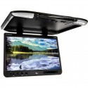 Tview T257IR-BK 25 Inch Roof Mount Flip Down Monitor with IR Infrared Transmitter - Black
