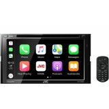 "JVC KW-M845BW 6.8"" Double DIN Car Digital Media Receiver with Android Auto, Apple Car Play and WebLink"
