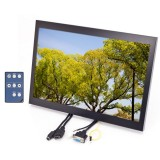 Quality Mobile Video QMV-LCDM154VGAH 15.4 inch Widescreen Metal Housed LCD Monitor with VGA and HDMI inputs