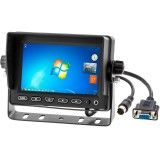"""SafeSight TOP-5001VGA 5"""" LCD Monitor  - Front view with Windows 7 desktop"""