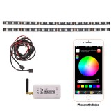 Accele LW200-SP 12 inch Flexible Full Color LED Light Strip Kit with iOS and Android Smartphone control