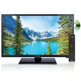 "Axess TVD1805-24 24"" HD LED TV with AC/DC power adapter and built in DVD"