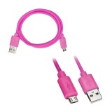 Axxess AX-MICROB-PK 3 foot USB to Micro USB Cable - Pink