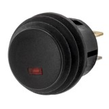 Battery Doctor 205337 Weather proof SPST Plunger Switch with LED indicator