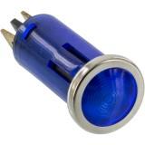 Battery Doctor 20541 12 Volt Flush Mount Blue Indicator Light with Chrome Bezel