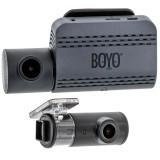 Boyo VTR219GW Dual Camera Full HD Dash Camera Recorder with Wifi Smartphone Connectivity