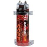 Boss Audio CAP2R Red Chrome Capacitor 2 Farad