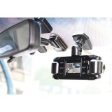 The original Dash Cam 2 4SK606 720p High Definition Dash Dual Camera with 2 inch LCD monitor - mounted on windshield