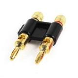 Proline PCS4 Double Gold Banana Plug speaker connector - Black