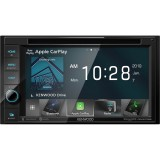 """Kenwood DDX5706S Double DIN 6.2"""" In-Dash DVD/CD/AM/FM Receiver with Bluetooth, SiriusXM Ready and Apple CarPlay"""