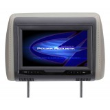 "POWER ACOUSTIK H-70CC 7"" Universal Replacement Headrest Monitor with 3 Color Skins for Vehicles"
