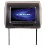 POWER ACOUSTIK H-71CC Universal Headrest Monitor with Monitor in Universal Replacement Bun for Vehicles