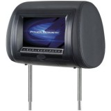 POWER ACOUSTIK HDVD‐75CC Preloaded Universal Headrest LCD Monitor with 3 Interchangeable Skins (With Front-Loading DVD/MP4 Player) For Vehicles