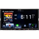 "Kenwood DNX875S Double DIN 6.95"" In-Dash DVD/CD/AM/FM Receiver with GPS, Bluetooth, Built-in HD Radio, Apple CarPlay and Android Auto"