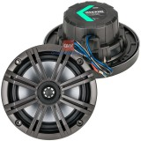 Kicker 41KM654LCW KM Series 6.5 inch Marine Speakers with LED Lighting - Top/Bottom