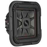 "Kicker 46L7T102 Solo-Baric 10"" Dual 2 Ohm Square Shallow Mount Subwoofer - Main"