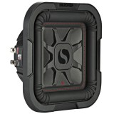 """Kicker 46L7T84 Solo-Baric 8"""" Dual 4 Ohm Square Shallow Mount Subwoofer - Main"""