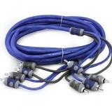 Kicker KI44 K-Series 4-Meter RCA Cables - 4 Channel