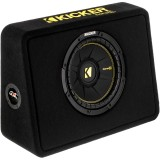Kicker CompC 44TCWC104 600 Watt 10 inch Subwoofer with Enclosure - Main