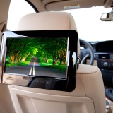 Quality Mobile Video QMV-AD90S Clip on DVD Headrest - Attached to a headrest